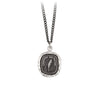 Pyrrha Love Guides Me Talisman Necklace Medium Curb Chain Silver