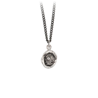 Pyrrha Love Talisman Necklace Medium Curb Chain Silver