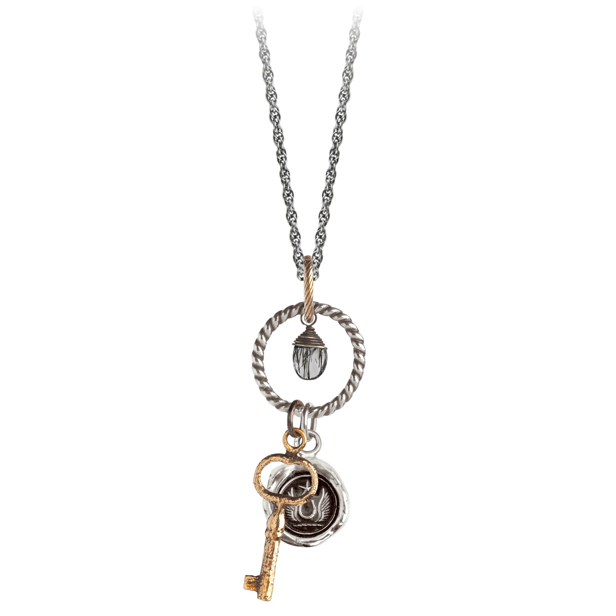 Pyrrha Luck and Protection Eternal Necklace