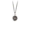 Pyrrha Luck and Protection Talisman Necklace Fine Curb Chain Silver
