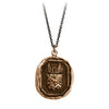 Pyrrha Luck Protects Me Talisman Necklace Medium Cable Chain Bronze