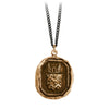 Pyrrha Luck Protects Me Talisman Necklace Medium Curb Chain Bronze