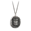 Pyrrha Luck Protects Me Talisman Necklace Medium Cable Chain Silver