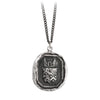 Pyrrha Luck Protects Me Talisman Necklace Medium Curb Chain Silver