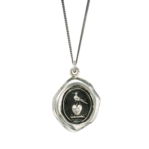 Martlet & Heart Diamond Set Talisman - Pyrrha - 1