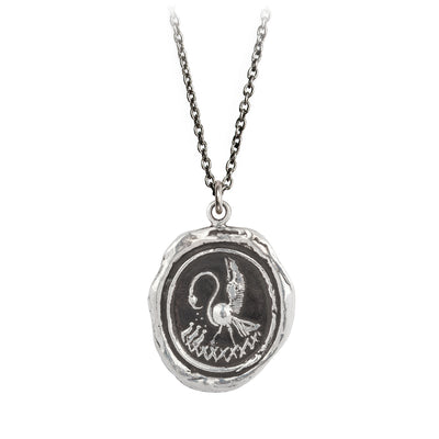 Pyrrha Maternal Devotion Talisman Necklace Silver