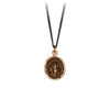 Pyrrha Never Alone Talisman Necklace Fine Curb Chain Bronze