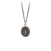 Pyrrha Never Alone Talisman Necklace Fine Curb Chain Silver