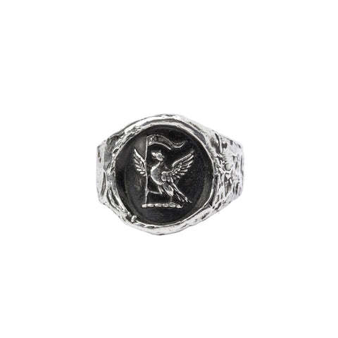 never settle formed band ring - pyrrha - 1