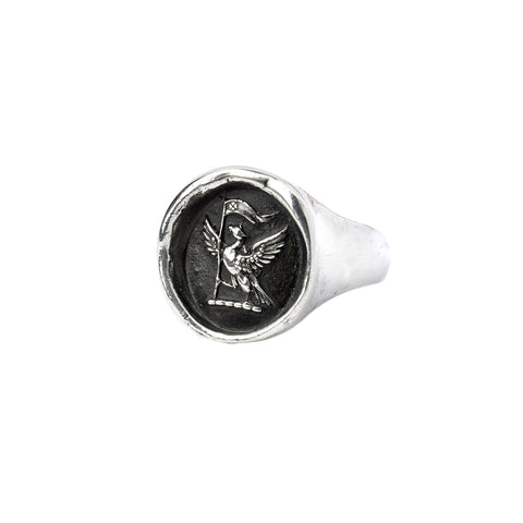 never settle signet ring - pyrrha - 1