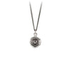 Pyrrha New Beginnings Talisman Necklace Fine Curb Chain Silver