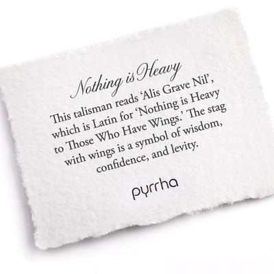Pyrrha Nothing Is Heavy Meaning Card