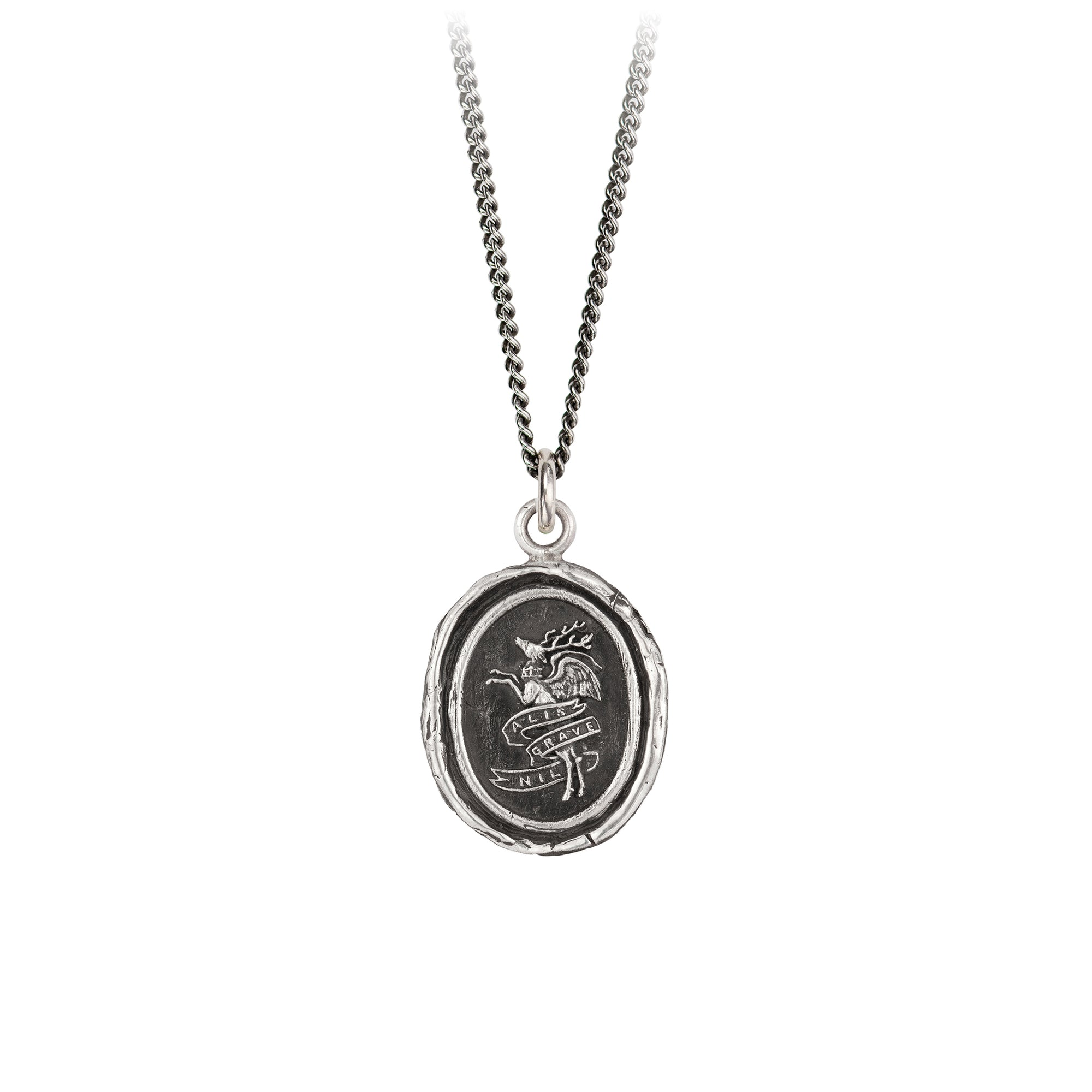Pyrrha Nothing is Heavy Talisman Necklace Silver
