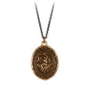 Pyrrha Nyx Goddess Talisman Necklace Bronze