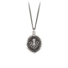Pyrrha Octopus Talisman Necklace Fine Curb Chain Silver
