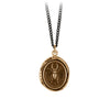 Pyrrha Perseverance Talisman Necklace Medium Curb Chain Bronze