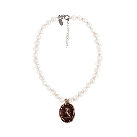 Power To Heal Knotted Freshwater Pearl Choker