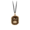 Pyrrha Protection Engravable Talisman Necklace Medium Curb Chain Bronze