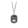 Pyrrha Protection Engravable Talisman Necklace Fine Curb Chain Silver
