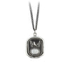 Pyrrha Protection Engravable Talisman Necklace Medium Curb Chain Silver