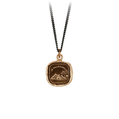 Pyrrha Resilient Talisman Necklace Fine Curb Chain Bronze
