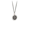 A silver chain necklace with our silver Rose talisman.