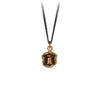 Pyrrha Safe Haven Talisman Necklace Fine Curb Chain Bronze
