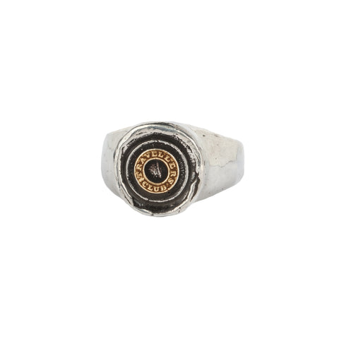 Safe Travels 14K Gold On Silver Signet Ring