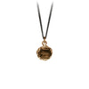 Pyrrha Say Yes Talisman Necklace Fine Curb Chain Bronze