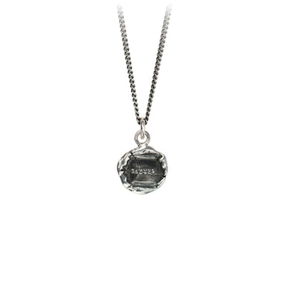 Pyrrha Say Yes Talisman Necklace Fine Curb Chain Silver