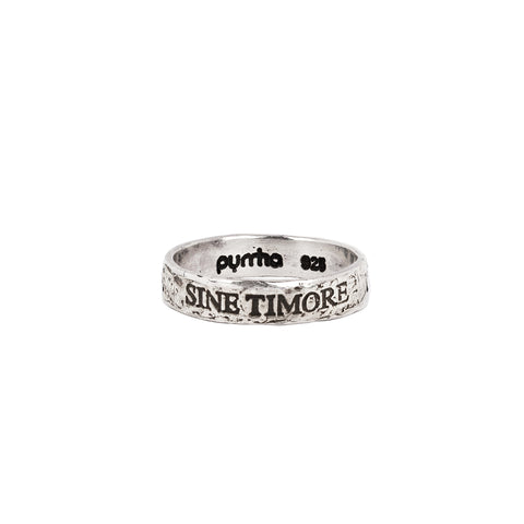 Sine Timore (Without Fear) Band Ring