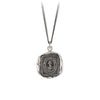 Pyrrha Still Have Hope Talisman Necklace Fine Curb Chain Silver