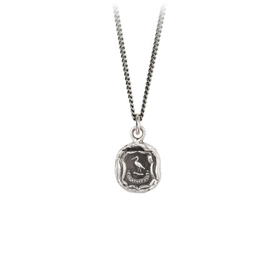 Pyrrha Stoop Not Talisman Necklace Fine Curb Chain Silver