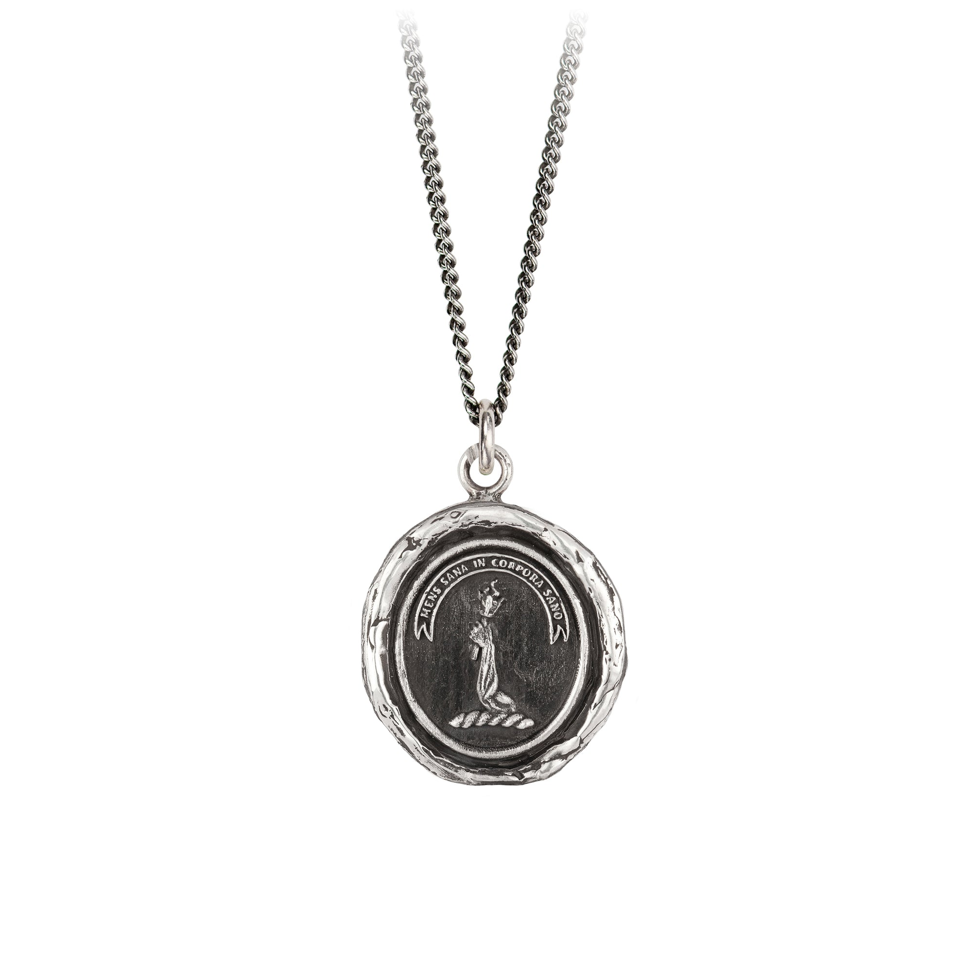 Pyrrha Strong Mind, Strong Body Talisman Necklace Silver