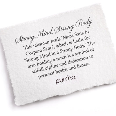 Pyrrha Strong Mind, Strong Body Meaning Card