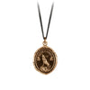 Pyrrha Struggle and Emerge Talisman Necklace Bronze