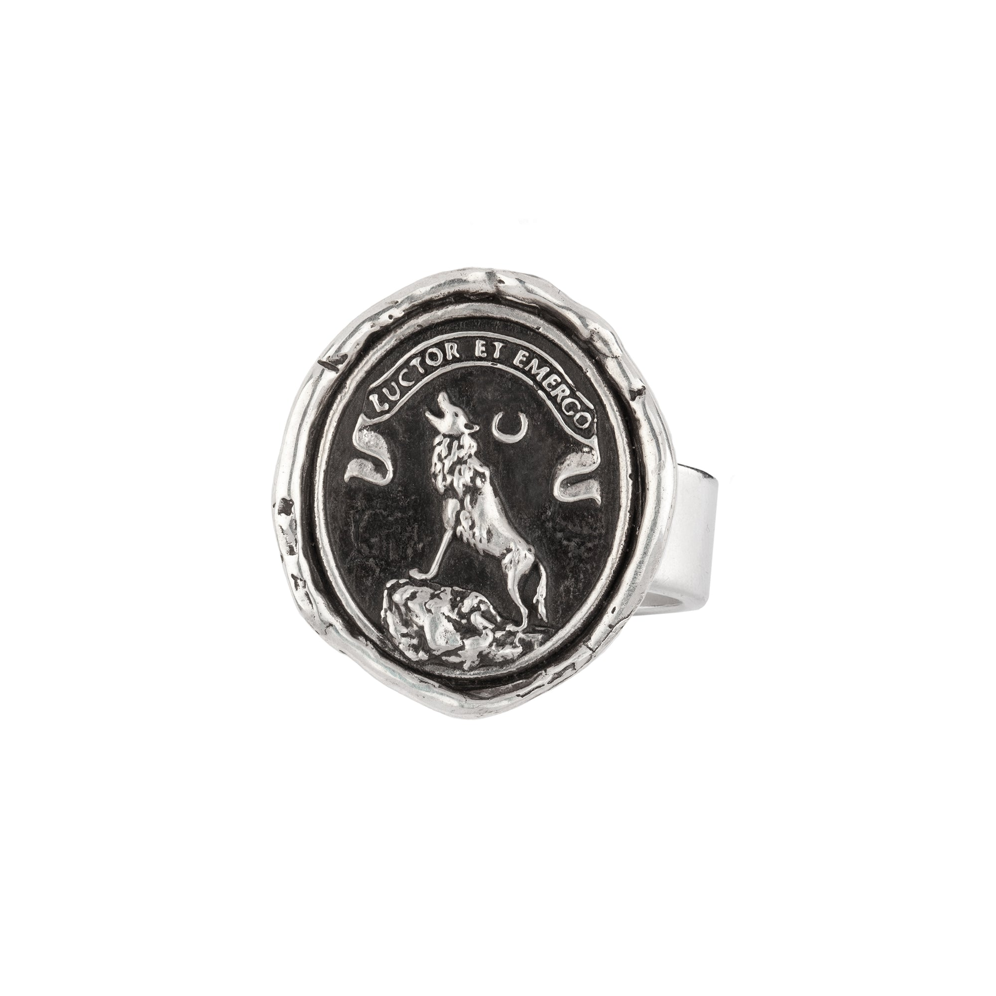 Pyrrha Struggle and Emerge Ring Sterling Silver