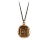 Pyrrha Sweetness Talisman Necklace Medium Cable Chain Bronze