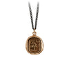 Pyrrha Sweetness Talisman Necklace Medium Curb Chain Bronze