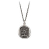 Pyrrha Sweetness Talisman Necklace Medium Cable Chain Silver