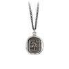 Pyrrha Sweetness Talisman Necklace Medium Curb Chain Silver
