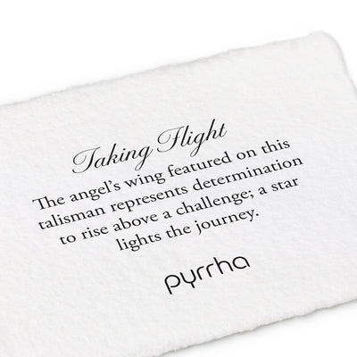 Taking Flight 14k Gold Talisman - Pyrrha - 2
