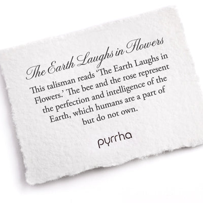 Pyrrha The Earth Laughs in Flowers Talisman Necklace