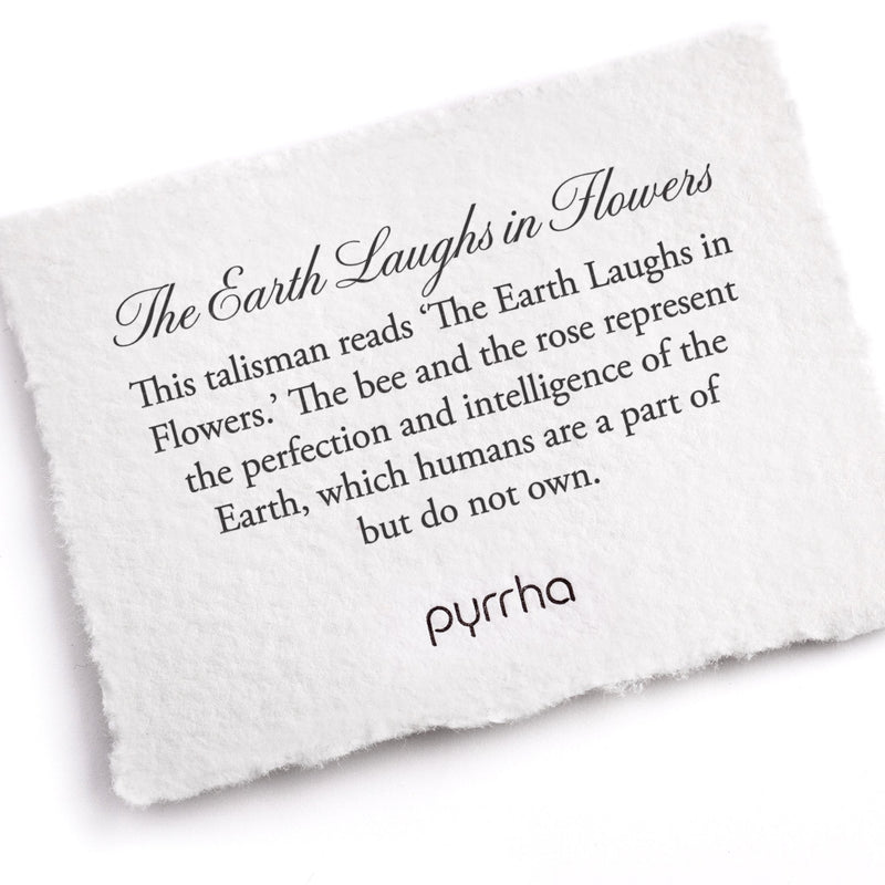 Pyrrha The Earth Laughs in Flowers Talisman Necklace Silver