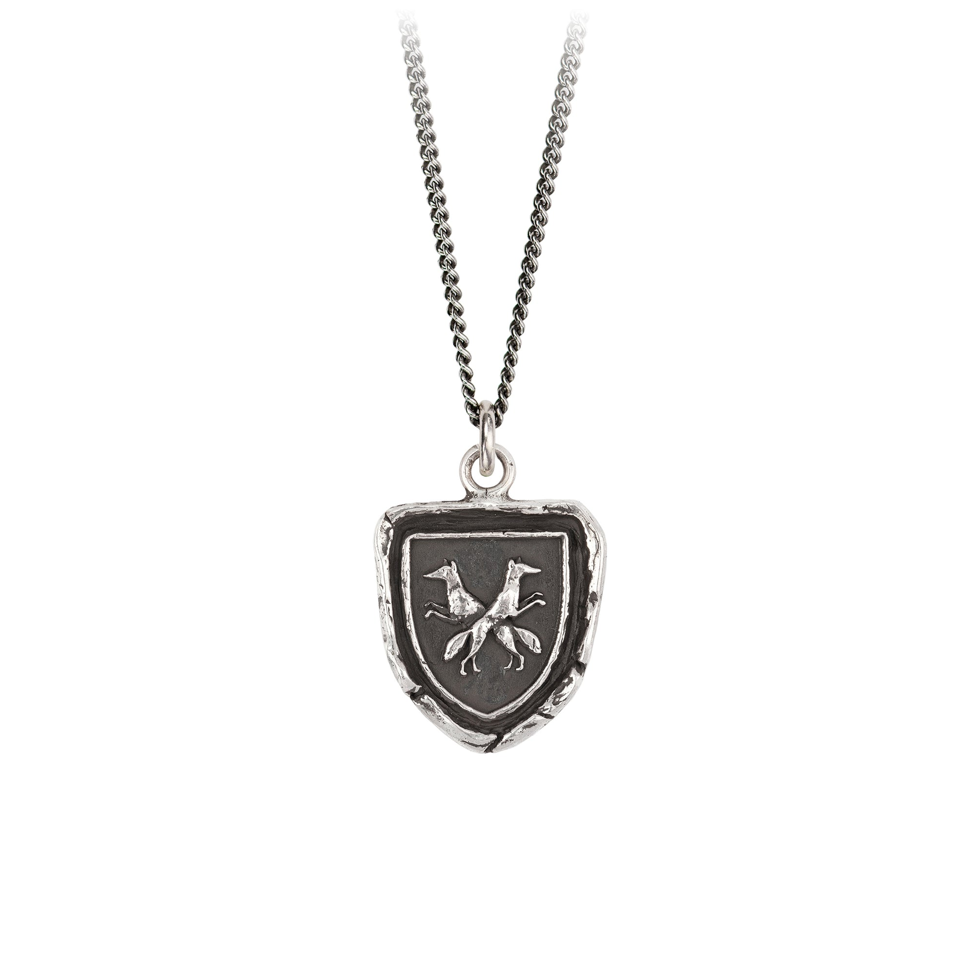 Pyrrha Thick As Thieves Talisman Necklace Fine Curb Chain Silver