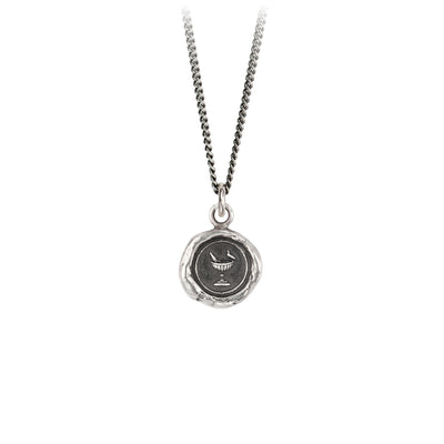 Pyrrha Togetherness Talisman Necklace Fine Curb Chain Silver