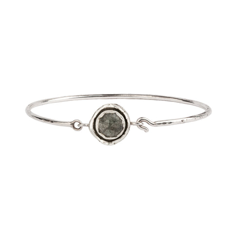 tourmalated quartz faceted stone talisman clasp bracelet - pyrrha - 1