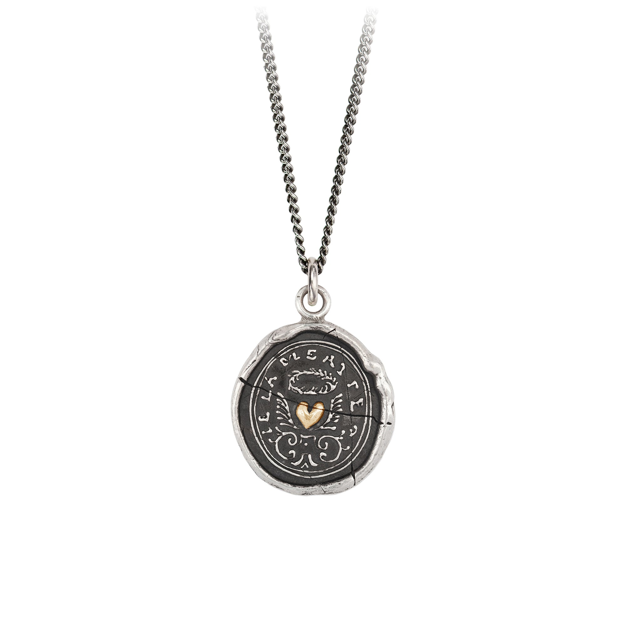 Pyrrha 14K Gold on Silver True Self Talisman Necklace