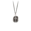 Pyrrha Unafraid Talisman Necklace Fine Curb Chain Silver