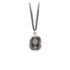 Pyrrha Unafraid Talisman Necklace Medium Curb Chain Silver